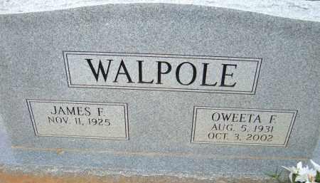 WALPOLE, OWEETA F. - Pulaski County, Arkansas | OWEETA F. WALPOLE - Arkansas Gravestone Photos