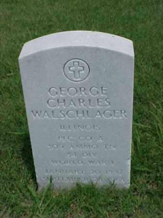 WALSCHLAGER (VETERAN WWI), GEORGE CHARLES - Pulaski County, Arkansas | GEORGE CHARLES WALSCHLAGER (VETERAN WWI) - Arkansas Gravestone Photos