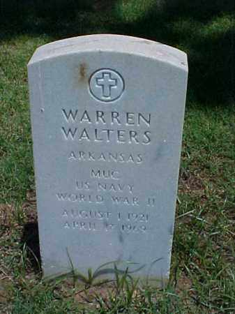 WALTERS (VETERAN WWII), WARREN - Pulaski County, Arkansas | WARREN WALTERS (VETERAN WWII) - Arkansas Gravestone Photos