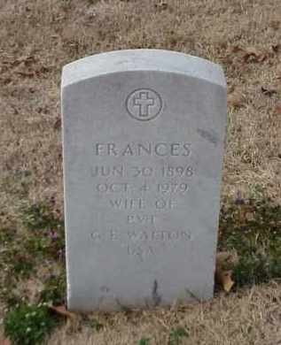 WALTON, FRANCES - Pulaski County, Arkansas | FRANCES WALTON - Arkansas Gravestone Photos