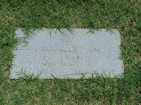 WALTON (VETERAN WWII), FRED R - Pulaski County, Arkansas | FRED R WALTON (VETERAN WWII) - Arkansas Gravestone Photos