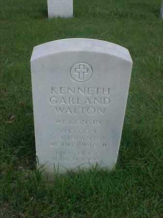 WALTON (VETERAN WWII), KENNETH GARLAND - Pulaski County, Arkansas | KENNETH GARLAND WALTON (VETERAN WWII) - Arkansas Gravestone Photos