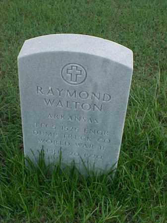 WALTON (VETERAN WWII), RAYMOND - Pulaski County, Arkansas | RAYMOND WALTON (VETERAN WWII) - Arkansas Gravestone Photos