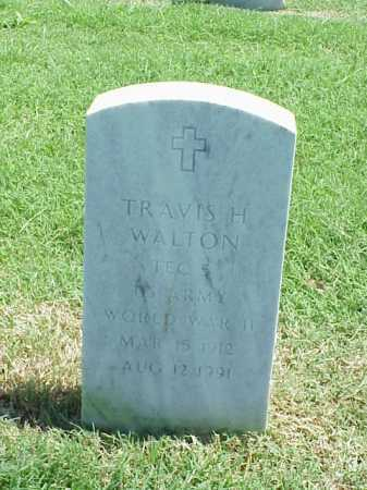 WALTON (VETERAN WWII), TRAVIS H - Pulaski County, Arkansas | TRAVIS H WALTON (VETERAN WWII) - Arkansas Gravestone Photos