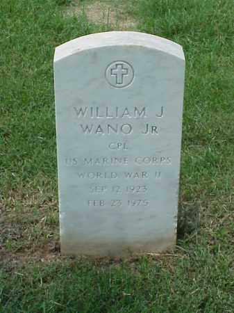 WANO, JR (VETERAN WWII), WILLIAM J - Pulaski County, Arkansas | WILLIAM J WANO, JR (VETERAN WWII) - Arkansas Gravestone Photos