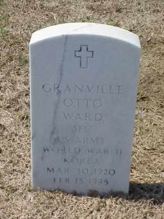 WARD (VETERAN 2 WARS), GRANVILLE OTTO - Pulaski County, Arkansas | GRANVILLE OTTO WARD (VETERAN 2 WARS) - Arkansas Gravestone Photos