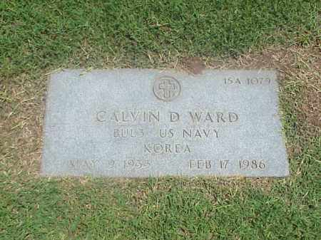 WARD (VETERAN KOR), CALVIN D - Pulaski County, Arkansas | CALVIN D WARD (VETERAN KOR) - Arkansas Gravestone Photos