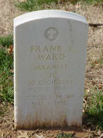 WARD (VETERAN WWI), FRANK J - Pulaski County, Arkansas | FRANK J WARD (VETERAN WWI) - Arkansas Gravestone Photos