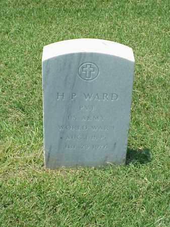 WARD (VETERAN WWI), H P - Pulaski County, Arkansas | H P WARD (VETERAN WWI) - Arkansas Gravestone Photos