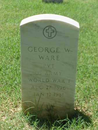 WARE (VETERAN WWI), GEORGE W - Pulaski County, Arkansas | GEORGE W WARE (VETERAN WWI) - Arkansas Gravestone Photos