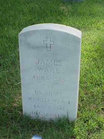 WARE (VETERAN WWI), JAMES - Pulaski County, Arkansas | JAMES WARE (VETERAN WWI) - Arkansas Gravestone Photos