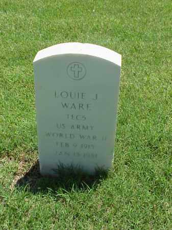 WARE (VETERAN WWII), LOUIE J - Pulaski County, Arkansas | LOUIE J WARE (VETERAN WWII) - Arkansas Gravestone Photos