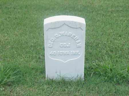 WAREHAM (VETERAN UNION), GEORGE O - Pulaski County, Arkansas | GEORGE O WAREHAM (VETERAN UNION) - Arkansas Gravestone Photos