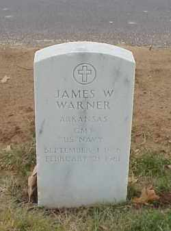 WARNER  (VETERAN), JAMES W - Pulaski County, Arkansas | JAMES W WARNER  (VETERAN) - Arkansas Gravestone Photos