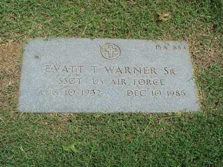 WARNER, SR (VETERAN), EVATT T - Pulaski County, Arkansas | EVATT T WARNER, SR (VETERAN) - Arkansas Gravestone Photos