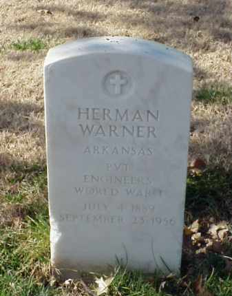 WARNER (VETERAN WWI), HERMAN - Pulaski County, Arkansas | HERMAN WARNER (VETERAN WWI) - Arkansas Gravestone Photos
