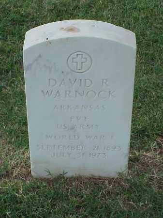 WARNOCK (VETERAN WWI), DAVID R - Pulaski County, Arkansas | DAVID R WARNOCK (VETERAN WWI) - Arkansas Gravestone Photos