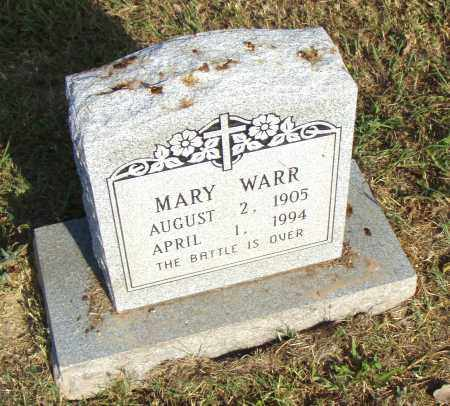 WARR, MARY - Pulaski County, Arkansas | MARY WARR - Arkansas Gravestone Photos