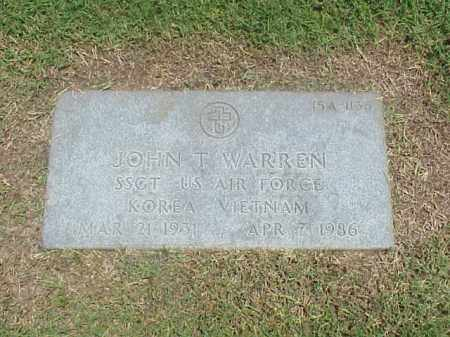 WARREN (VETERAN 2 WARS), JOHN T - Pulaski County, Arkansas | JOHN T WARREN (VETERAN 2 WARS) - Arkansas Gravestone Photos