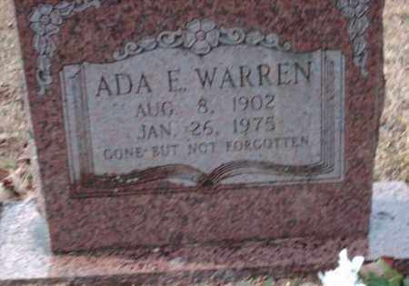 WARREN, ADA E - Pulaski County, Arkansas | ADA E WARREN - Arkansas Gravestone Photos