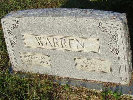 WARREN SR, JAMES W - Pulaski County, Arkansas | JAMES W WARREN SR - Arkansas Gravestone Photos