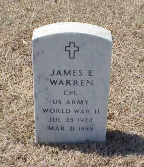 WARREN (VETERAN WWII), JAMES E - Pulaski County, Arkansas | JAMES E WARREN (VETERAN WWII) - Arkansas Gravestone Photos