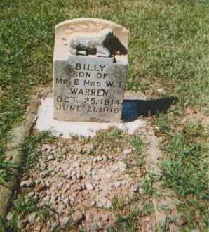 WARREN, WILLIAM (BILLY) - Pulaski County, Arkansas | WILLIAM (BILLY) WARREN - Arkansas Gravestone Photos