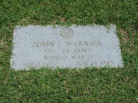 WARRICK (VETERAN WWII), JOHN L - Pulaski County, Arkansas | JOHN L WARRICK (VETERAN WWII) - Arkansas Gravestone Photos