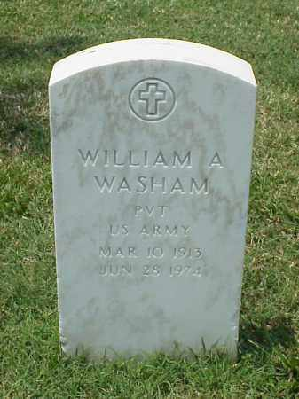 WASHAM (VETERAN WWII), WILLIAM A - Pulaski County, Arkansas | WILLIAM A WASHAM (VETERAN WWII) - Arkansas Gravestone Photos