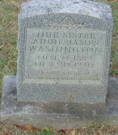 JAMES WASHINGTON, ADDIE - Pulaski County, Arkansas | ADDIE JAMES WASHINGTON - Arkansas Gravestone Photos