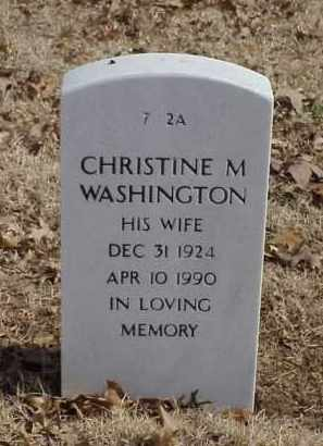 WASHINGTON, CHRISTINE M. - Pulaski County, Arkansas | CHRISTINE M. WASHINGTON - Arkansas Gravestone Photos