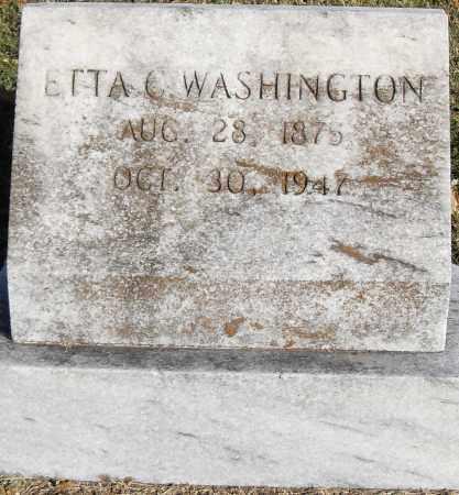 WASHINGTON, ETTA C - Pulaski County, Arkansas | ETTA C WASHINGTON - Arkansas Gravestone Photos