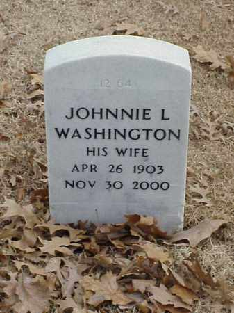 WASHINGTON, JOHNNIE L - Pulaski County, Arkansas | JOHNNIE L WASHINGTON - Arkansas Gravestone Photos