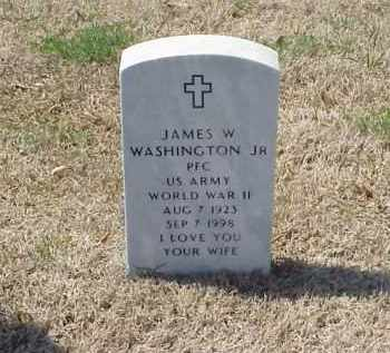 WASHINGTON, JR (VETERAN WWII), JAMES W - Pulaski County, Arkansas | JAMES W WASHINGTON, JR (VETERAN WWII) - Arkansas Gravestone Photos