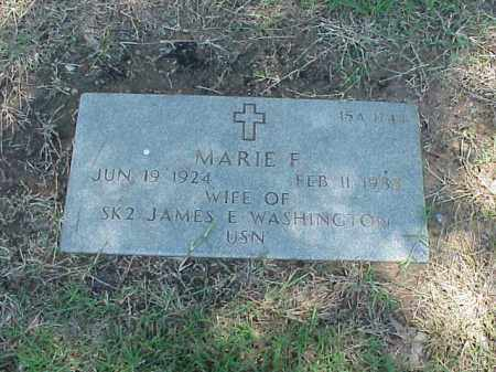 WASHINGTON, MARIE F - Pulaski County, Arkansas | MARIE F WASHINGTON - Arkansas Gravestone Photos