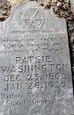 WASHINGTON, PATSIE - Pulaski County, Arkansas | PATSIE WASHINGTON - Arkansas Gravestone Photos