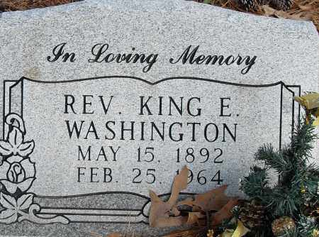 WASHINGTON REV, KING E - Pulaski County, Arkansas | KING E WASHINGTON REV - Arkansas Gravestone Photos
