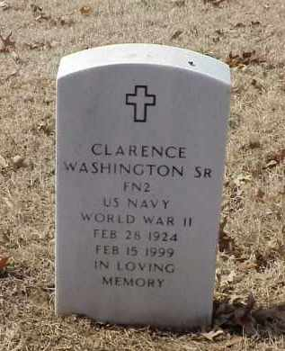 WASHINGTON, SR (VETERAN WWII), CLARENCE - Pulaski County, Arkansas | CLARENCE WASHINGTON, SR (VETERAN WWII) - Arkansas Gravestone Photos