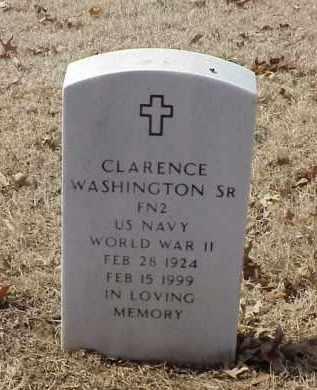 WASHINGTON, SR (VETERAN WWII), CLARENCE - Pulaski County, Arkansas | CLARENCE WASHINGTON, SR (VETERAN WWII) - Arkansas Gravestone Photos