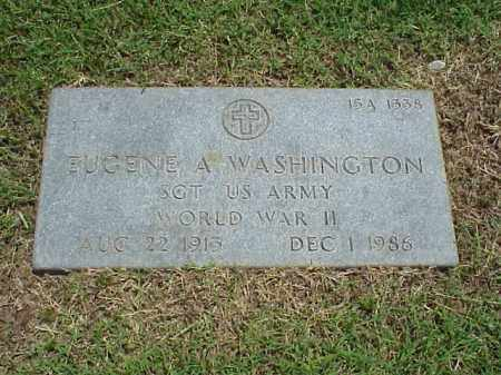 WASHINGTON (VETERAN WWI), EUGENE A - Pulaski County, Arkansas | EUGENE A WASHINGTON (VETERAN WWI) - Arkansas Gravestone Photos