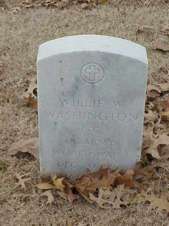 WASHINGTON (VETERAN WWI), WILLIE W - Pulaski County, Arkansas | WILLIE W WASHINGTON (VETERAN WWI) - Arkansas Gravestone Photos