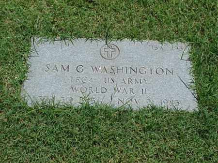 WASHINGTON (VETERAN WWII), SAM G - Pulaski County, Arkansas | SAM G WASHINGTON (VETERAN WWII) - Arkansas Gravestone Photos