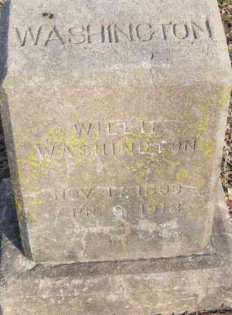 WASHINGTON, WILLIE - Pulaski County, Arkansas | WILLIE WASHINGTON - Arkansas Gravestone Photos