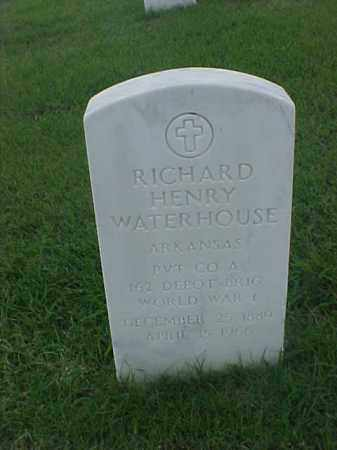 WATERHOUSE (VETERAN WWI), RICHARD HENRY - Pulaski County, Arkansas | RICHARD HENRY WATERHOUSE (VETERAN WWI) - Arkansas Gravestone Photos