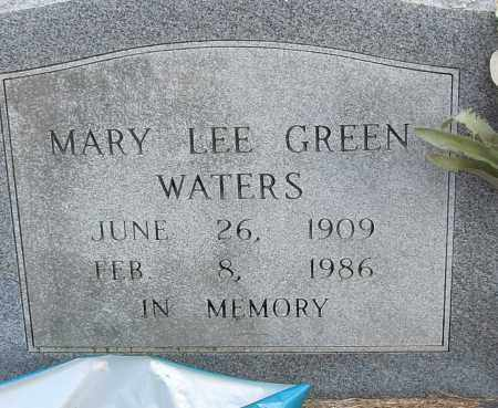 GREEN WATERS, MARY LEE - Pulaski County, Arkansas | MARY LEE GREEN WATERS - Arkansas Gravestone Photos