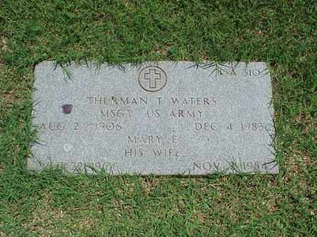 WATERS (VETERAN 2 WARS), THURMAN T - Pulaski County, Arkansas | THURMAN T WATERS (VETERAN 2 WARS) - Arkansas Gravestone Photos