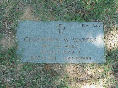 WATERS (VETERAN WWII), CLAYBORN W - Pulaski County, Arkansas | CLAYBORN W WATERS (VETERAN WWII) - Arkansas Gravestone Photos
