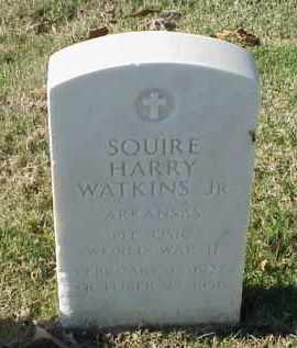 WATKINS, JR (VETERAN WWII), SQUIRE HARRY - Pulaski County, Arkansas | SQUIRE HARRY WATKINS, JR (VETERAN WWII) - Arkansas Gravestone Photos