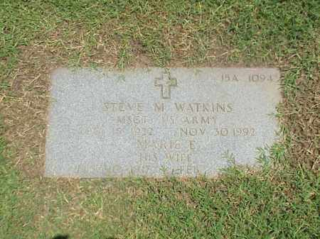 WATKINS (VETERAN 2 WARS), STEVE M - Pulaski County, Arkansas | STEVE M WATKINS (VETERAN 2 WARS) - Arkansas Gravestone Photos