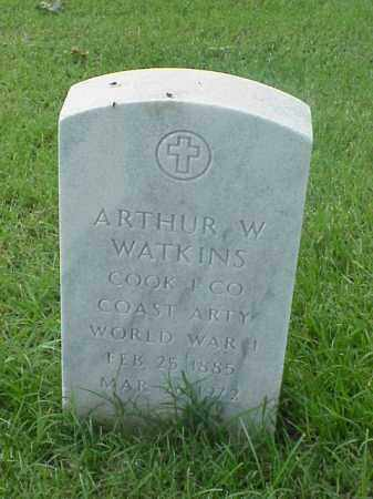 WATKINS (VETERAN WWI), ARTHUR W - Pulaski County, Arkansas | ARTHUR W WATKINS (VETERAN WWI) - Arkansas Gravestone Photos
